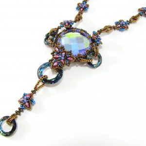 Blue Moon Rising necklace beaded jewelry project