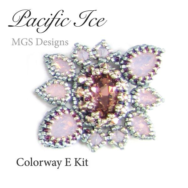 Pacific Ice bracelet project for bead weaving by Melissa Grakowsky Shippee MGS Designs