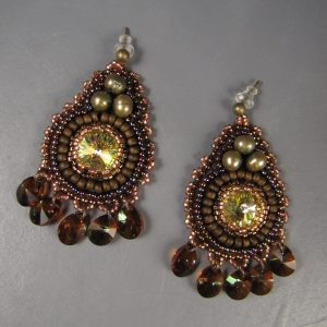 MGS Designs Bead Embroidery Earrings