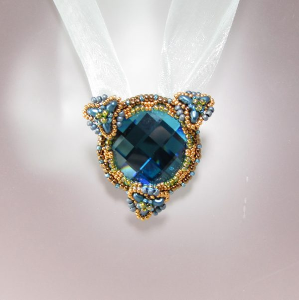 MGS Designs Blue Moon Rising necklace beaded jewelry project