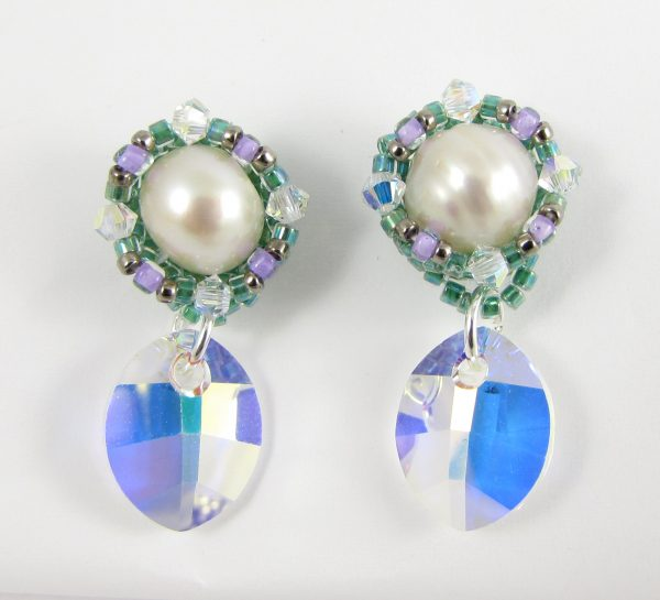 MGS Designs Simple Beaded Pearl Earrings