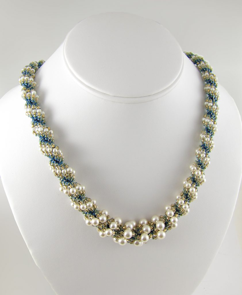 MGS Designs Spiraling Pearls Necklace