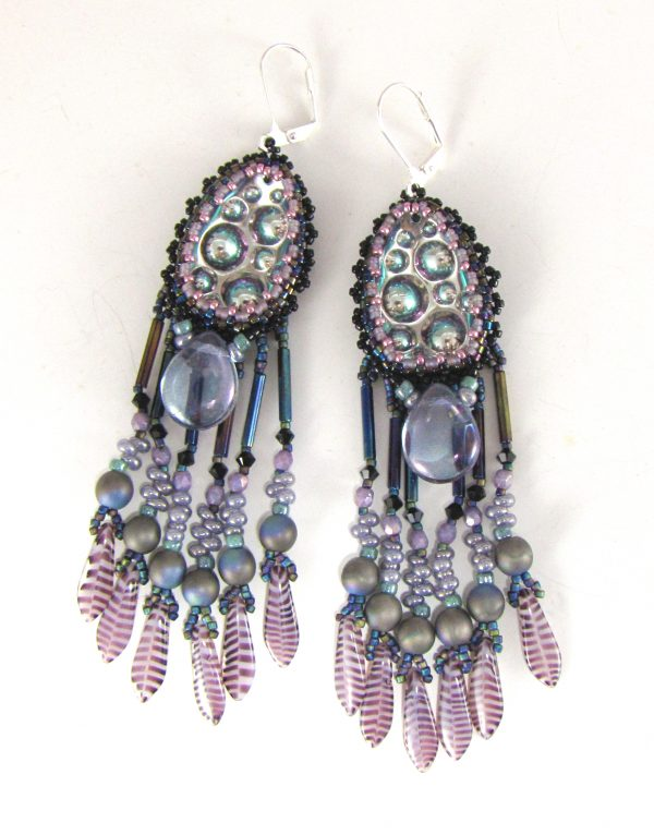 MGS Designs Purple Lava Earrings