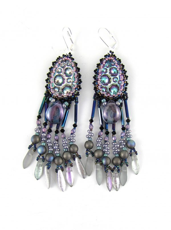 Purple lava earrings new
