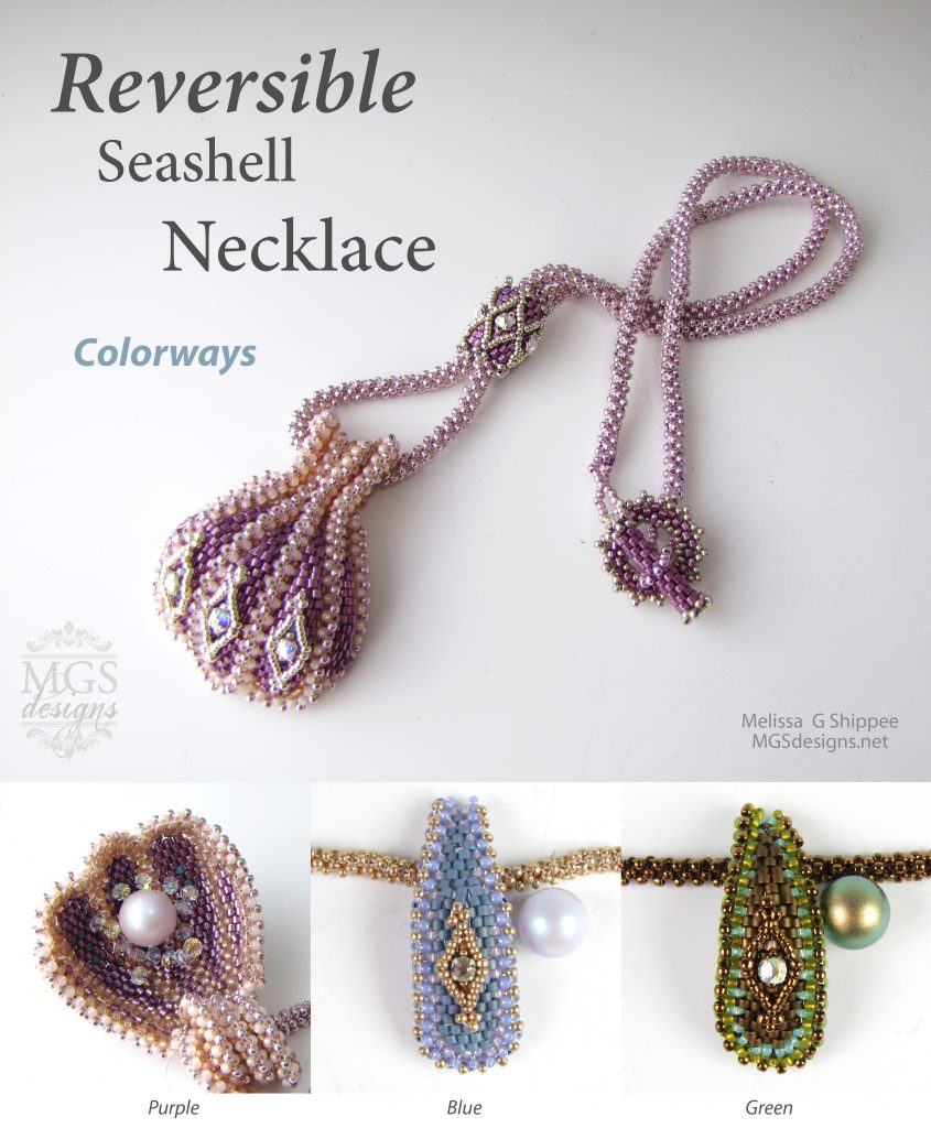 Reversible Seashell Necklace by Melissa Grakowsky Shippee Colorway Photo
